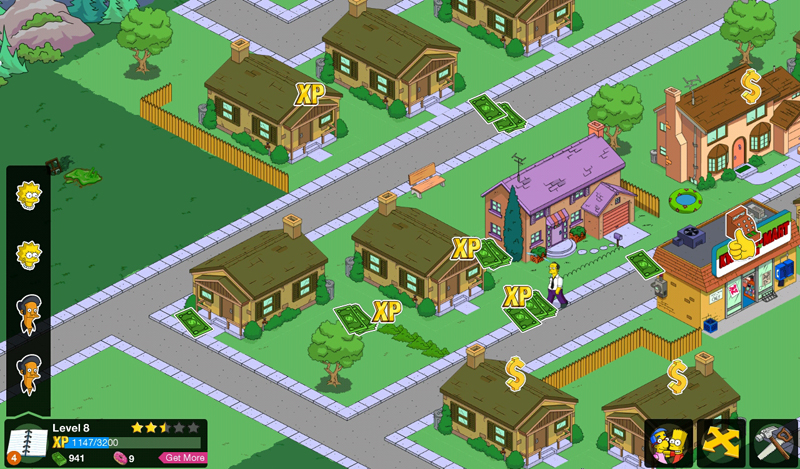 Ve hře The Simpsons Tapped Out si stavíte vlastní Springfiled
